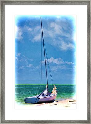 Beached Sailboat Framed Print
