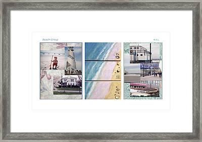 Beaches Group Framed Print