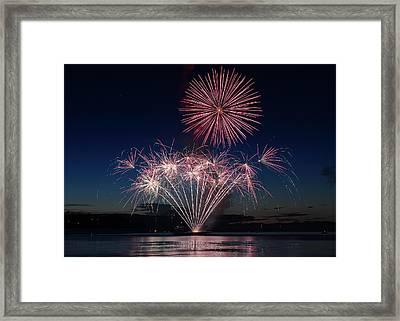 Beachfest Fireworks 2013 Framed Print