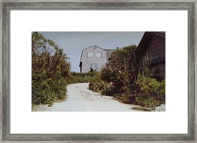 Beachhouse Face Mantoloking Nj Framed Print by Joann Renner