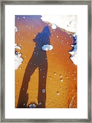 Framed Print featuring the photograph Beachscape by Ankya Klay