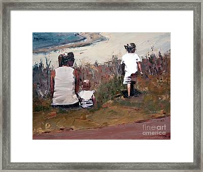 Beachside Framed Print by Claire McCall