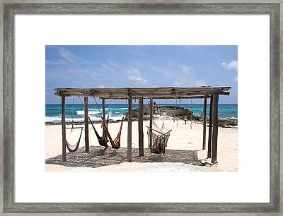 beachside hammocks cozumel mexico framed print by lee vanderwalker beachside hammocks cozumel mexico photograph by lee vanderwalker  rh   fineartamerica