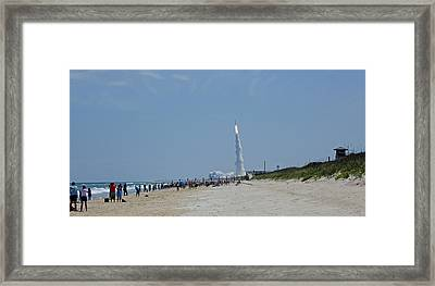 Beachside Launch Framed Print