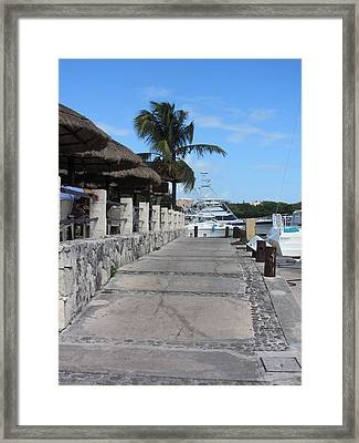 Beachwalk Framed Print