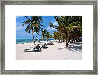 Beachy Belize Framed Print by Kristina Deane