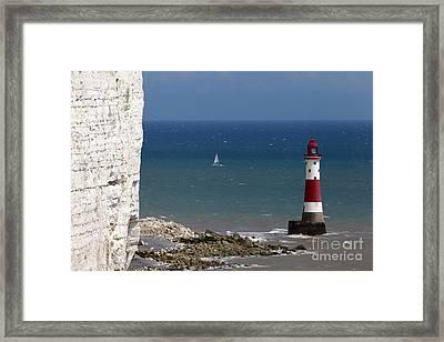 Beachy Head Lighthouse Framed Print by James Brunker