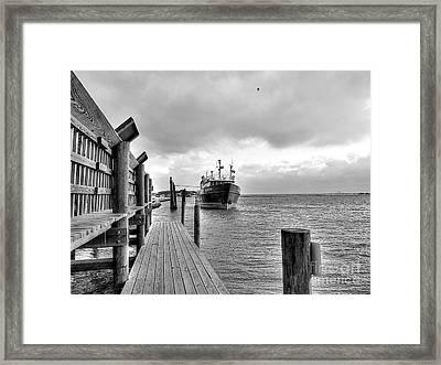 Beacon At Anchor Framed Print by David Bearden