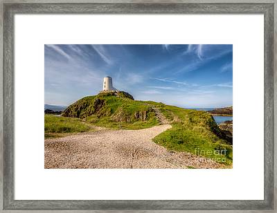 Beacon At Llanddwyn Framed Print