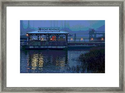 Framed Print featuring the painting Beacon For Fun Times - Art by Laura Ragland