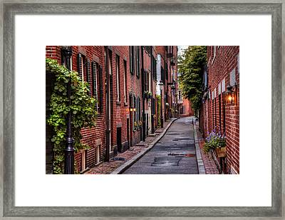 Beacon Hill Boston Framed Print by Carol Japp