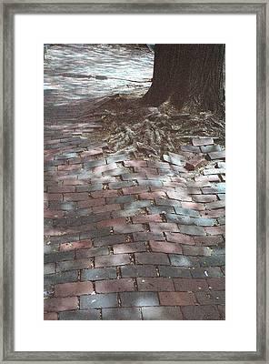 Beacon Hill Brick Framed Print by Jill Tuinier