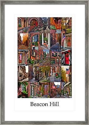 Beacon Hill - Poster Framed Print by Joann Vitali