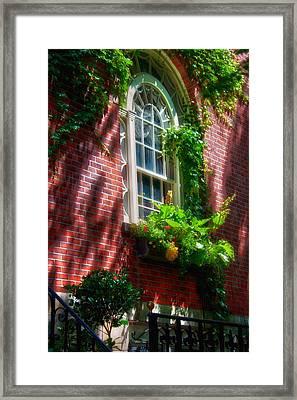 Beacon Hill Window Series Framed Print