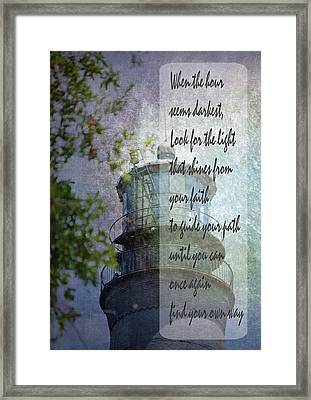 Beacon Of Hope Inspiration Framed Print