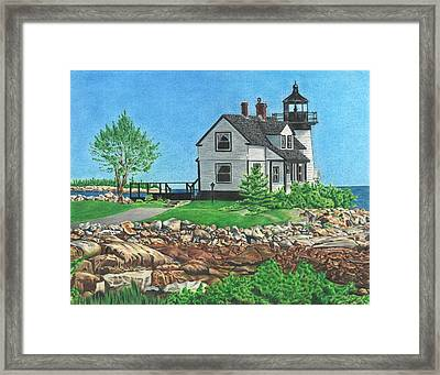 Beacon Of Hope Framed Print by Troy Levesque