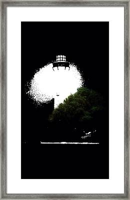 Framed Print featuring the digital art Beacon Of Light by Anthony Fishburne