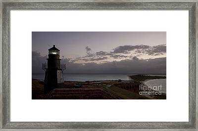 Beacon Of Light Framed Print by Keith Kapple