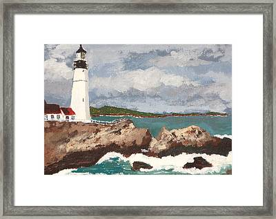 Beacon Of Love Framed Print