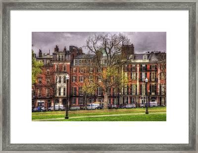 Beacon Street Brownstones - Boston Framed Print