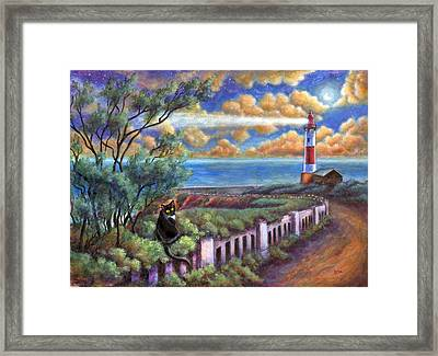 Beacons In The Moonlight Framed Print