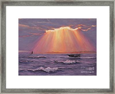 Beacons Of Light Framed Print by Cindy Lee Longhini