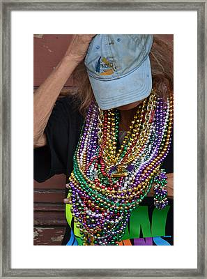 Bead Lady Of The Quarter Framed Print
