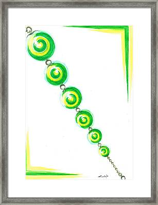 Beaded Chain Framed Print