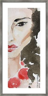 Beaded Framed Print by Cynthia Parsons