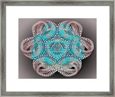 Beaded Kaleidoscope  Framed Print