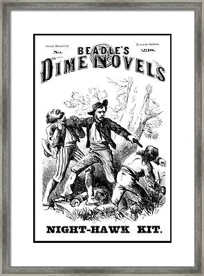 Beadles Dime Novels, Night-hawk Kit Framed Print