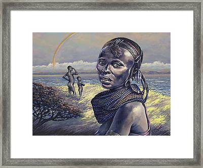 Beads Framed Print by Dennis Goff