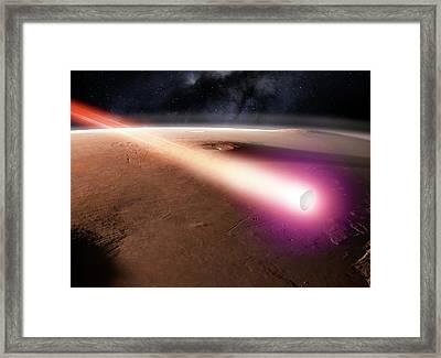 Beagle 2 Over Mars Framed Print
