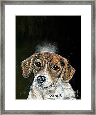 Beagle Angel Framed Print by Jay  Schmetz