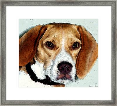 Beagle Art - Eagle Boy Framed Print by Sharon Cummings