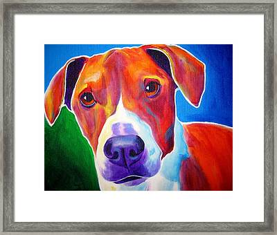 Beagle - Copper Framed Print by Alicia VanNoy Call