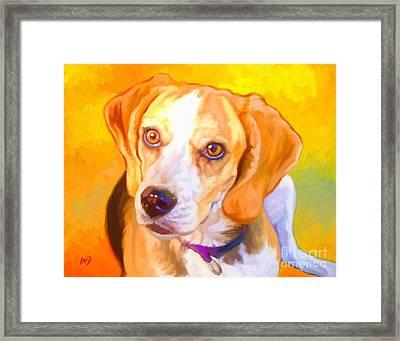 Beagle Dog Art Framed Print by Iain McDonald
