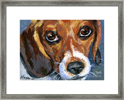 Beagle Framed Print by Hope Lane