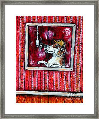 Beagle In The Vocal Booth Framed Print by Jay  Schmetz