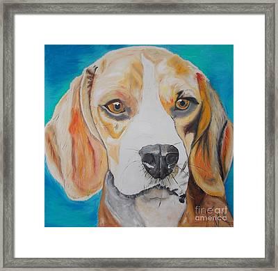 Beagle Framed Print by PainterArtist FIN