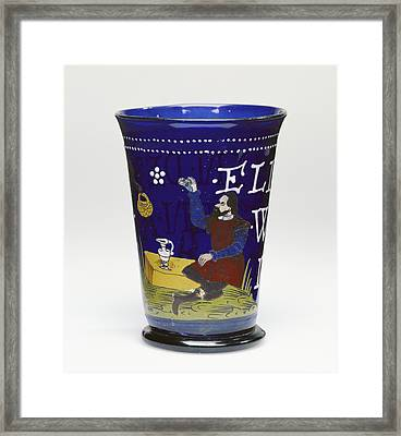 Beaker Unknown Czech Republic, Northern Bohemia Probably Framed Print