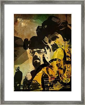 Breaking Bad Poster Framed Print by Albert Lewis