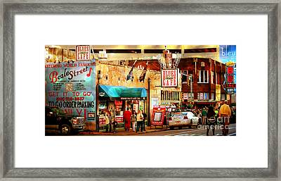 Framed Print featuring the photograph Beale Street by Barbara Chichester