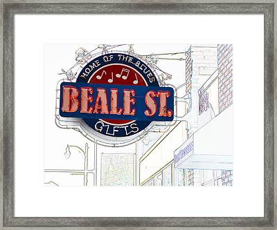 Beale Street Home Of The Blues Framed Print