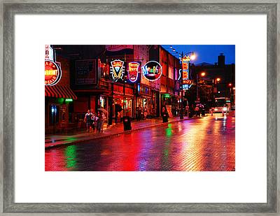Beale Street Memphis Framed Print by James Kirkikis