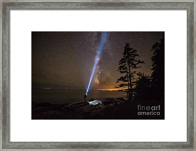 Beam Me Up  Framed Print by Michael Ver Sprill