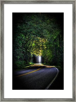 Beam Me Up Great Smoky Mountains Framed Print by Reid Callaway
