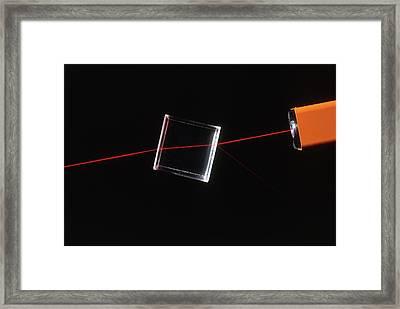 Beam Of Light Refracting Through Glass Framed Print by Dorling Kindersley/uig