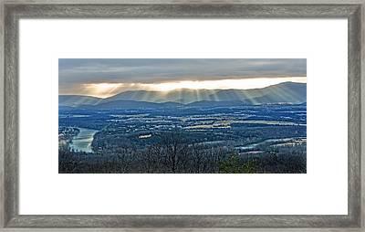 Beaming March Shenandoah Framed Print by Lara Ellis