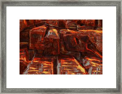 Beams Framed Print by Jack Zulli